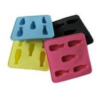 Cheap Colorful Silicone Kitchenware Bakeware, 5pc Shape Ice Cubes Tray Non Toxic OEM wholesale