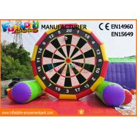 Cheap Interactive 5m High Inflatable Foot Darts Game / Inflatable Soccer Darts wholesale