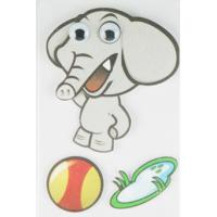 Cheap Soft Kids 3D Cartoon Stickers Promotional Baby Elephant Wall Stickers  wholesale