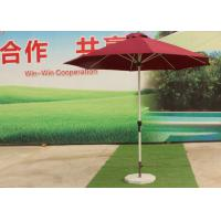 Cheap 3.0 M Red Big Outdoor Umbrella , Round Patio Umbrella Parasol For Garden wholesale