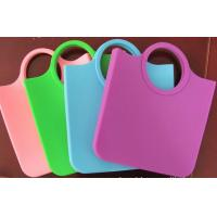 Cheap Reusable Candy Silicone Shopping Bag Dull Polish , Eco-friendly wholesale