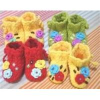 Cheap Crochet hook lovely Hand crochet DIY baby shoes knitted baby products Indoor wholesale