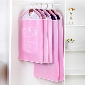 Cheap Pink Non - Woven Hanging Garment Bags Dustproof With Long Zipper Closure wholesale