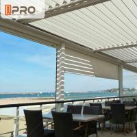 Cheap Long Life Span Modern Aluminum Pergola With Electric Motor System wholesale