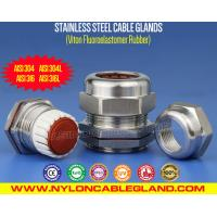 Buy cheap Rating IP68 Stainless Steel Cable Gland AISI 304/316/316L with (FKM / FPM) Viton from wholesalers