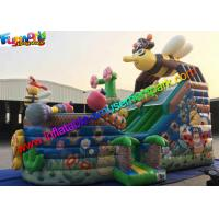Cheap Bee Commercial Inflatable Slide With Full Printing , inflatable slip and slide wholesale