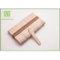 Cheap Large Ice Cream Popsicle Sticks , 75mm Jumbo Paddle Pop Sticks Non - Waxed for sale