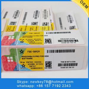 China Software Windows 10 Pro OEM Key / Microsoft Office Retail Box 20 Language on sale