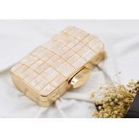 Cheap American Style Metal Evening Clutch Bags Fashion Anniversary With Masonry Plaid wholesale