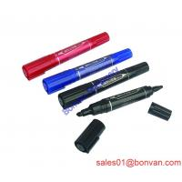 Cheap long writing Non-toxic harmless permanent marker with two sides wholesale