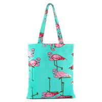 Cheap Flower Pattern Zipper Printed Shopping Bags For Grocery Stores wholesale