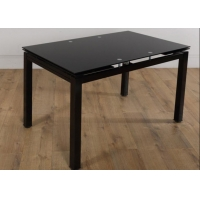 China Extendable Glass Top 88KGS 170x70cm Modern Dining Table on sale