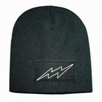 Cheap Beanie with Reflective Logo on Label wholesale