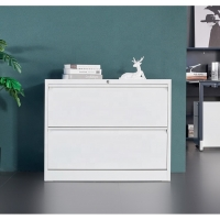 Cheap white A4 FC file storage 2 drawer steel lateral cardboard metal drawing filing cabinet for office wholesale