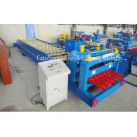 High Speed Steel Glazed Roll Forming Equipment With Hydraulic Press And Cut System