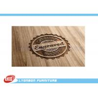 Cheap Durable Display Wood CNC Engraving Logo / Wood Label Sign For Exhibition wholesale