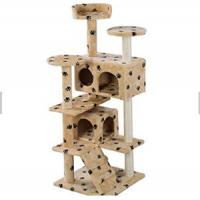 China Professional Manufacturer Wholesale Pet Cat Toys Castle Cat Tree House Products on sale