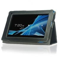Gray PU 7 Inch PC Acer Tablet Leather Case With Handstrap Wake Up / Sleep
