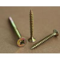 Buy cheap pozi drive countersunk head flat head yellow zinc plated chipboard screws from wholesalers