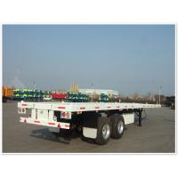Cheap 2 axle 40ft  40 tons Flatbed trailer in truck trailer   CIMC VEHICLE wholesale