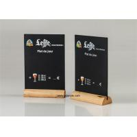 Cheap Restaurant Bar Acrylic Chalkboard Writing Display Stand Natural Wood Menu Holders wholesale