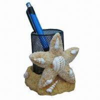 Cheap Polyresin Pen Holder, Harmless to People/Environment, OEM Orders are Accepted wholesale
