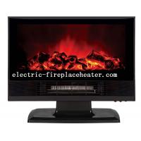 Cheap Luxury ABS Desktop / Wall Mounted Electric Fireplace Heater Black / Red wholesale