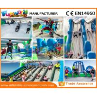 Cheap Custom Inflatable Rent Obstacle Course Fireproof Material For Amusement Park wholesale