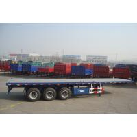 Buy cheap tri-axle trailer flatbed container semi trailer with twist locks - CIMC VEHICLE from wholesalers