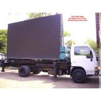 Cheap Aluminum or Iron Full Color Led Mobile Billboard on Vehicles P10 1R1G1B IP65 220V / 50Hz wholesale