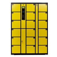 Cheap Self Encoded Electronic Safe Locker 18 Yellow Black Durable Storage Cabinet wholesale