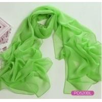 Cheap Chiffon Solid Color Long Scarf with Label as YT-PD505L wholesale