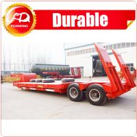 Cheap 2/3/4 Axles Low Bed Flat Trailer with 45T Capacity / Tire Appeared & ramp; Covered Flat Deck Optional wholesale