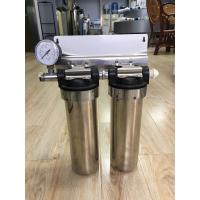 "Cheap Two Stage Under Sink 10"" Stainless Steel Water Filter Water Purifier With Pressure Gauge wholesale"