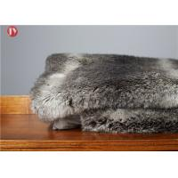 Cheap Gray chinchilla Animal Print Faux Fur Blanket Ostrich Exotic Throws Comforters Mink Backing wholesale