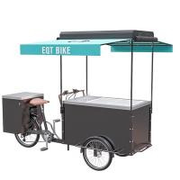 Cheap Customizable Multifunctional Ice Cream Bicycle Cart 300KG Load Capacity wholesale