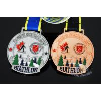 Buy cheap Sublimated Ribbon Custom Sports Medals Athletics Medals For Canada Sports Skiing from wholesalers