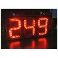 Cheap Digital Clock Remote Tri Color LED Gas Station Sign Ultra Thin High Brightness wholesale