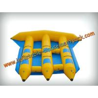Cheap Funny 6 Persons Yellow Inflatable Boat Toys 0.9mm Pvc Tarpaulin wholesale