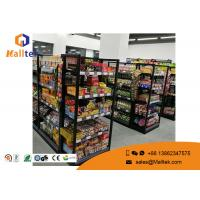 Cheap Grocery Customized Shop Display Fittings Rust Resistance Black Gondola Shelving wholesale