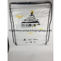 Cheap Drawstring Frosted Recycled Plastic Backpack Eco - Friendly Water Proof wholesale