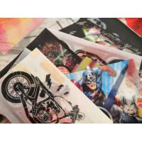 Cheap PLASTIC LENTICULAR soft lenticular sheet printing patch 3d flip tpu lenticular stickers with hot melt adhesive wholesale