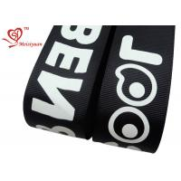 Cheap Fashionable black 2 inch personalised grosgrain ribbon Custom logo Accepted for sale