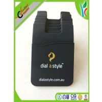 Buy cheap Stylish Cell Phone Silicone Cases , Custom Printed Logo Black Card Holder from wholesalers