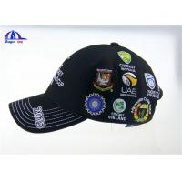 Personalized Black Cotton Custom Baseball Caps with Embroidery Logo for ICC Cricket Wolrd Cup
