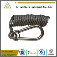 Cheap spring wire rope sling ,black coated steel wire rope sling wholesale