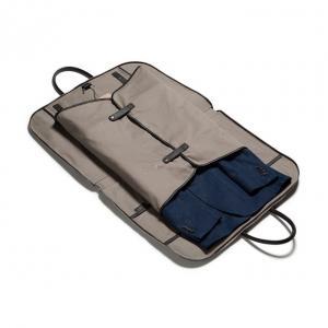 Cheap PU Leather Canvas Hanging Zipper Mens Travel Suit Garment Bags wholesale