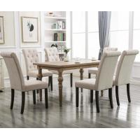Cheap Noble Elegant Leather Industrial Dining Chairs Solid Wood Tufted Simplicity wholesale