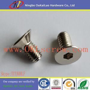China Stainless Steel CSK Head Hexagon Socket Machine Screws on sale