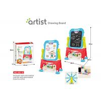 Cheap 67 CM Height Unisex Kids Magnetic Drawing Board 12 Chalks Painting Blue wholesale